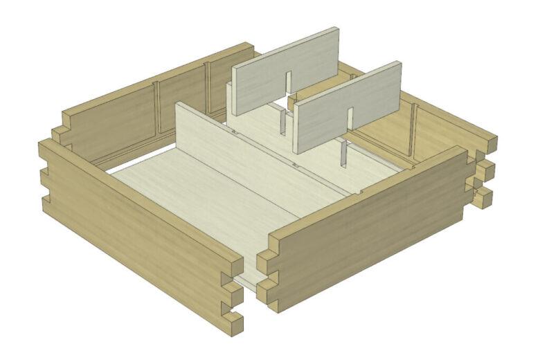 組み木の設計図も作成できる