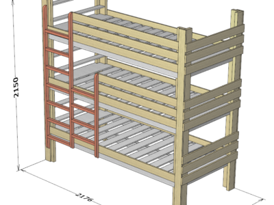自作三段ベッドの設計図