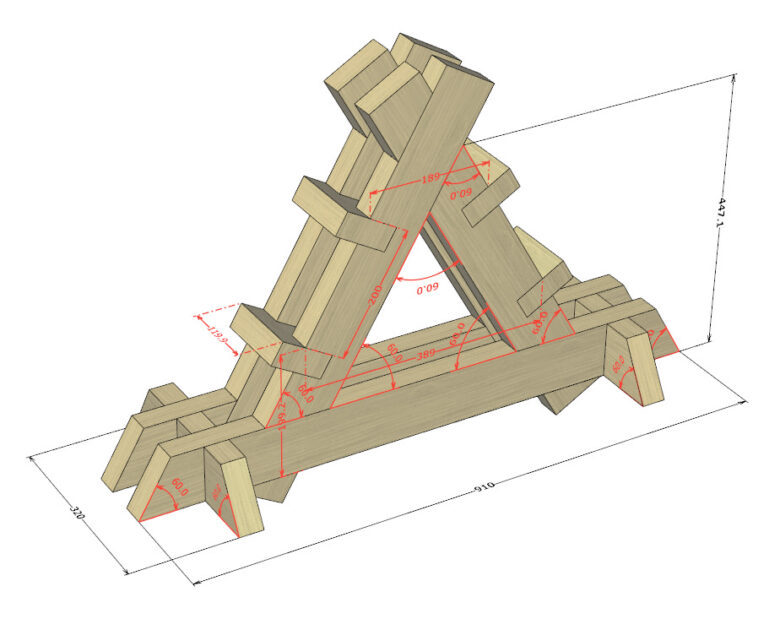 寸法線、分度器の利用例