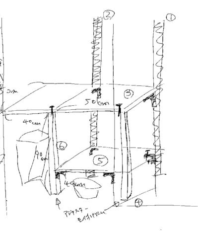 キッチンシェルフ イメージ図