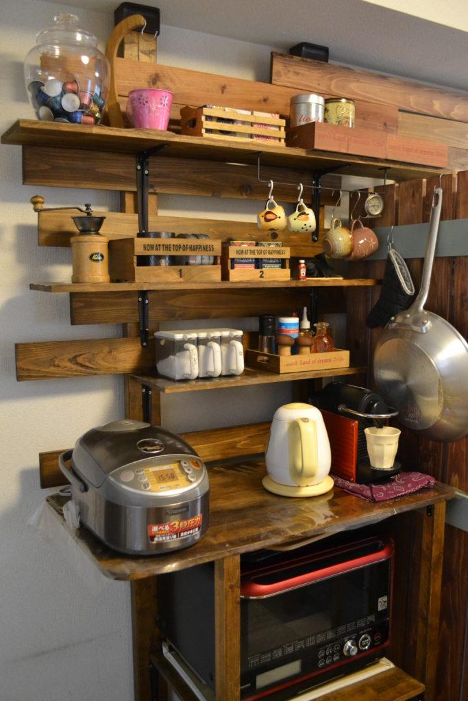 ディアウォール キッチン 棚 カフェ風 DIY