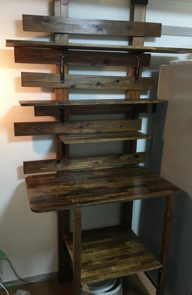 キッチンシェルフ DIY 組み立て
