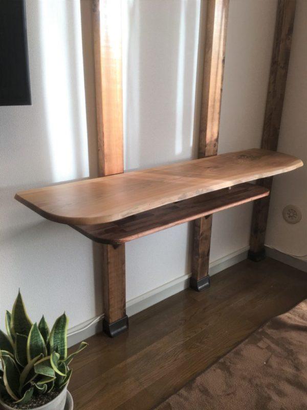 ヤマザクラのカウンターテーブル