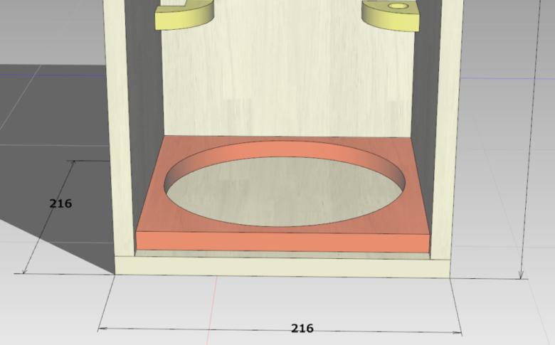 ランタンを固定する枠(底面)