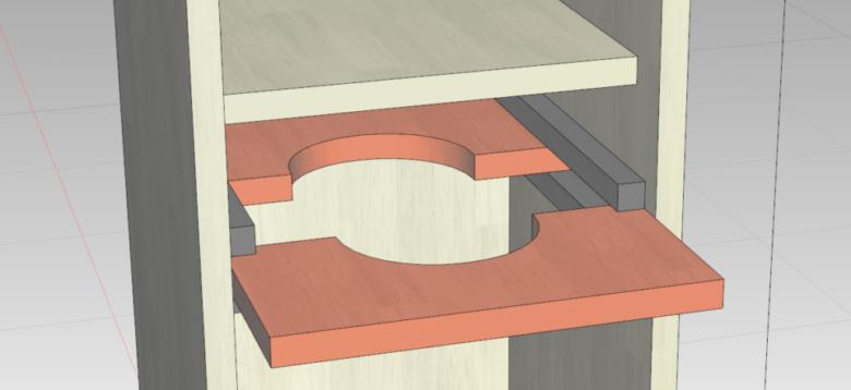 ランタンを固定する枠(上部)