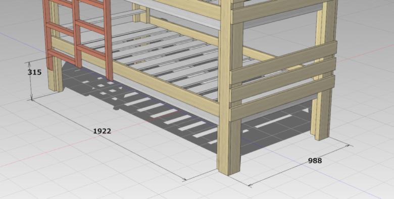 ベッド下空間のサイズ