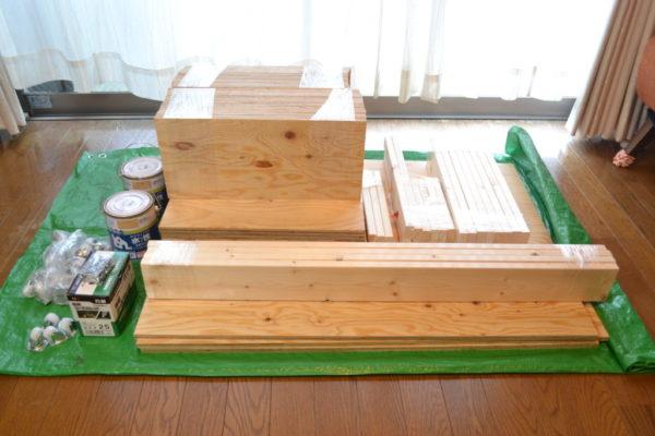 ベッド下収納 DIY