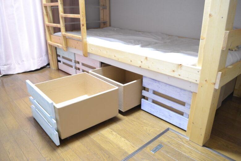 ベッド下を有効活用