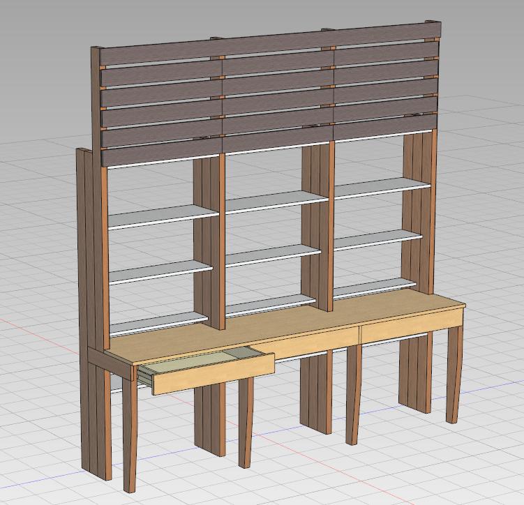 子供用の机と本棚