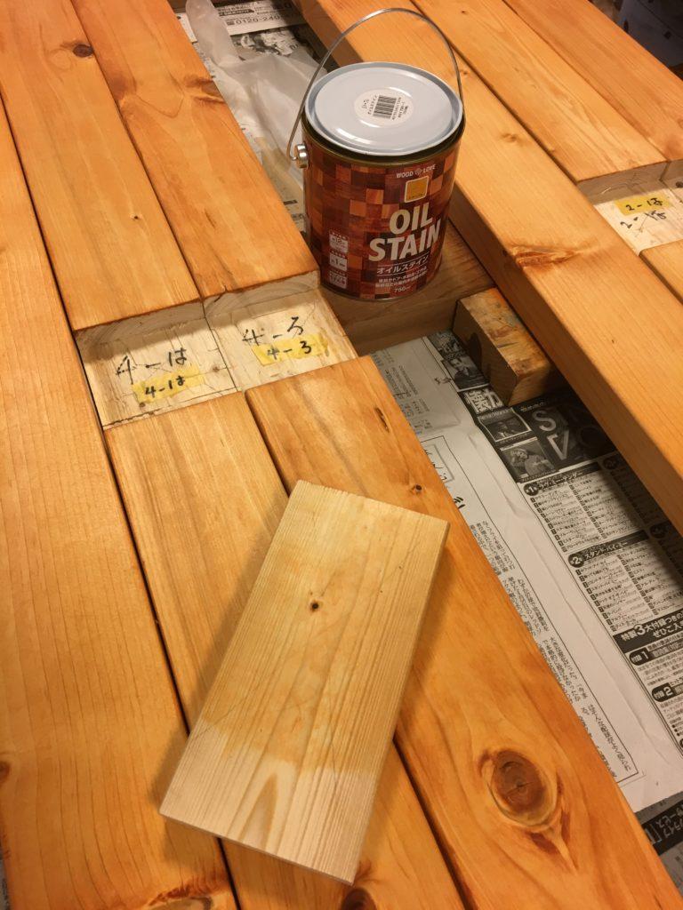 柱を塗装(&塗装サンプル)