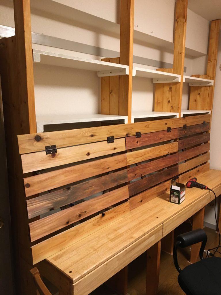 木の壁完成