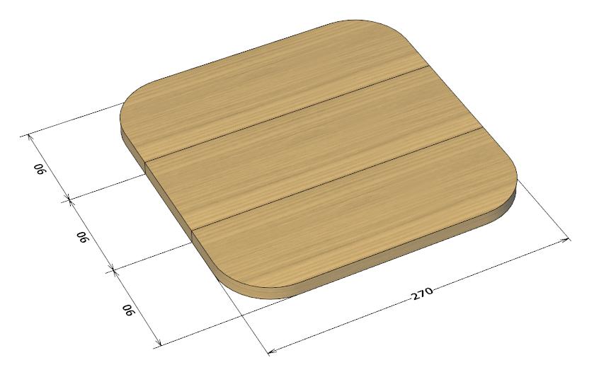 座板の設計図