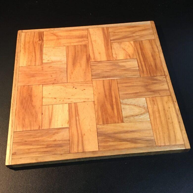 電動ドリルと砥石で作成した寄木細工