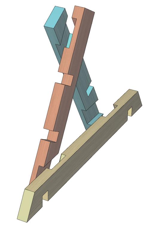 斜辺と脚部の組み合わせ方
