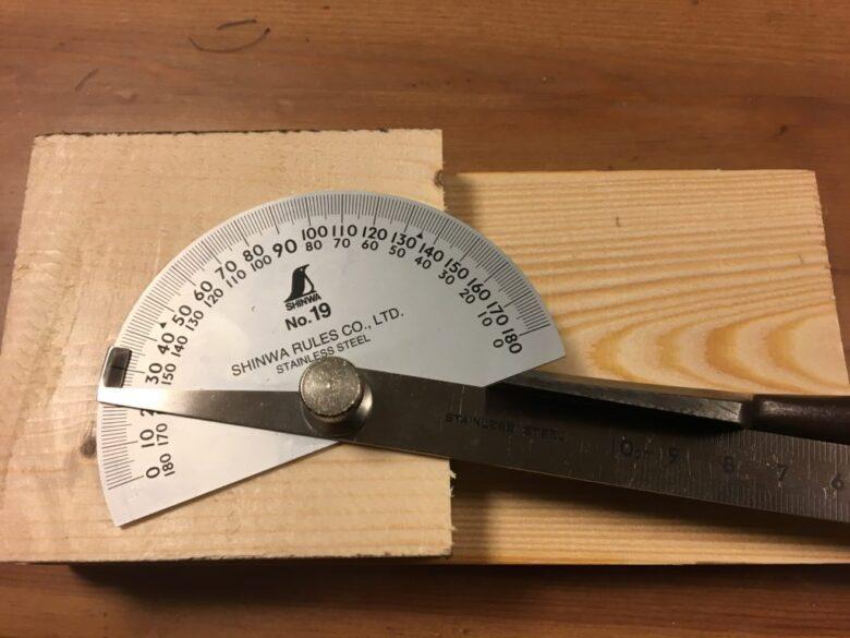 研ぎ上がり後の刃の角度は30度ぴったり!