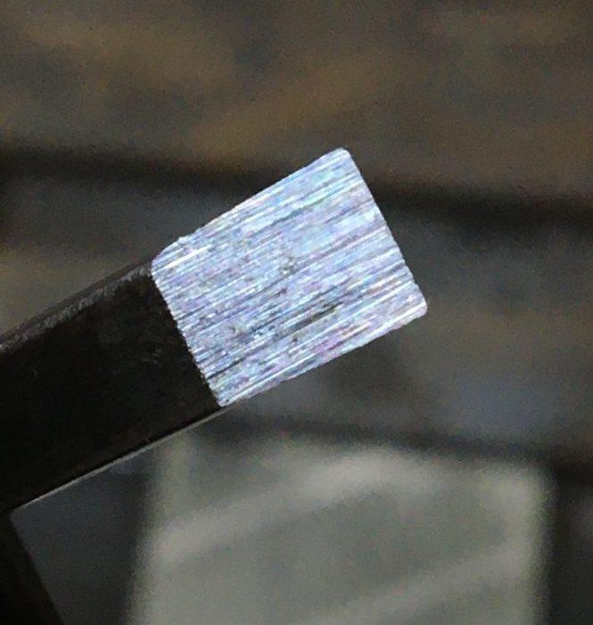 ダイヤモンド砥石で研いだ鑿