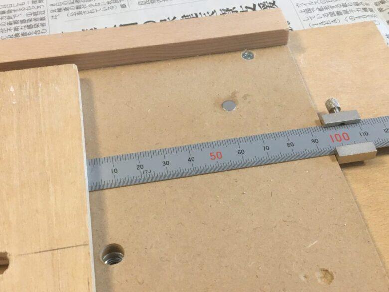 あらかじめ左側のフェンスを一定の幅に固定する