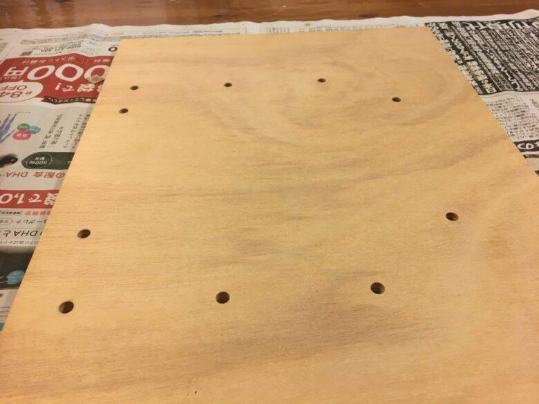 穴をあけた基板