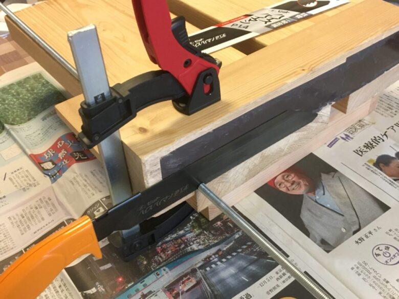 直角切り治具で全ネジを切ることができる