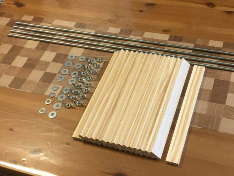 自作木工クランプの材料