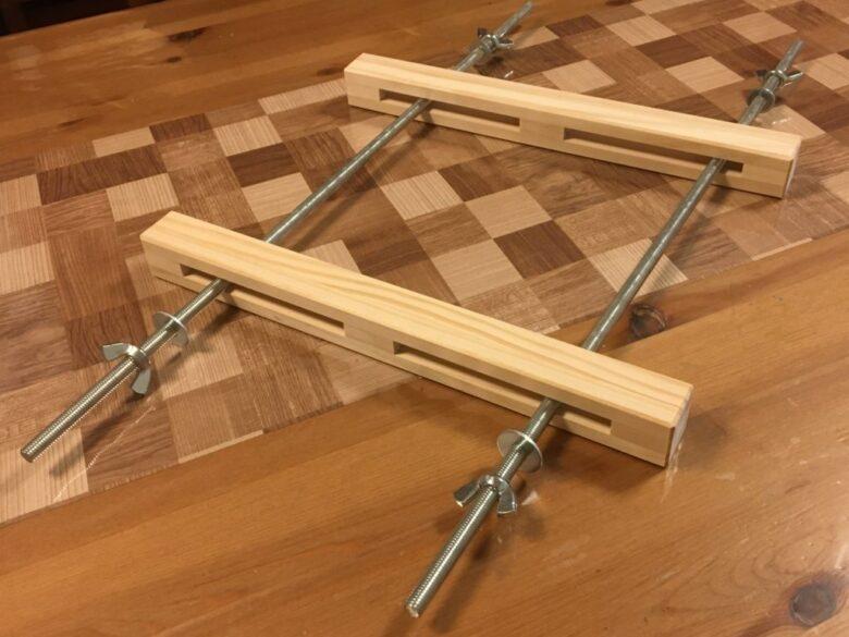 自作木工クランプの組み立て