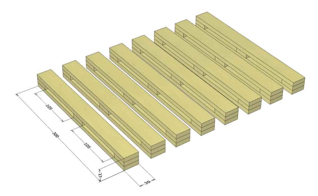 自作木工クランプの設計図