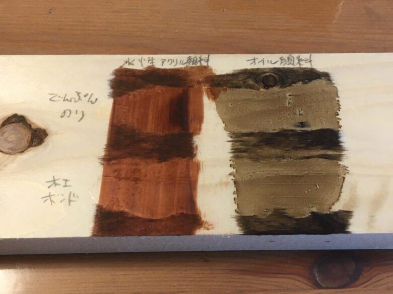 でんぷん糊の塗装実験
