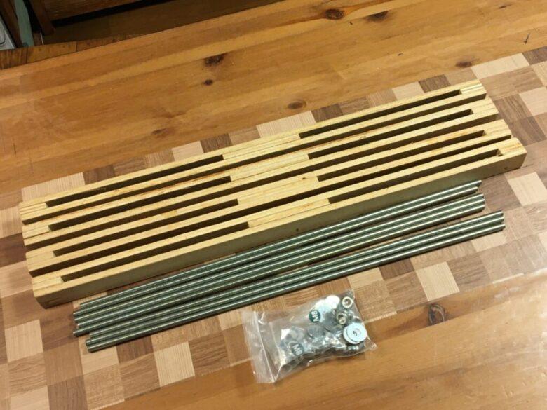 合板で作る大型クランプ