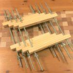 自作木工クランプの完成