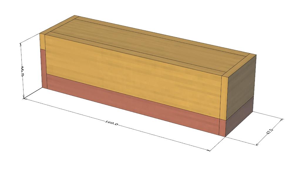 ダイスケースの設計図(全体図・閉じた状態)