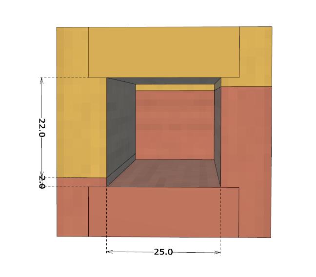 ダイスケースの設計図(断面図)