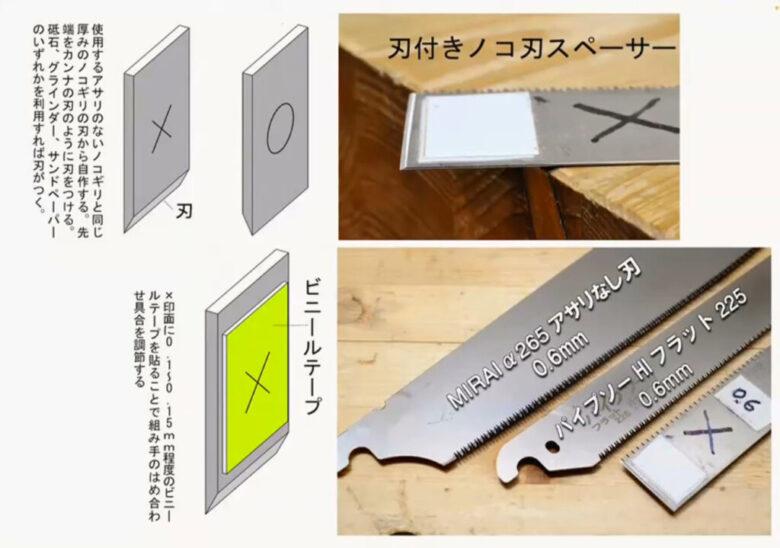 刃付きノコ刃スペーサーの作り方
