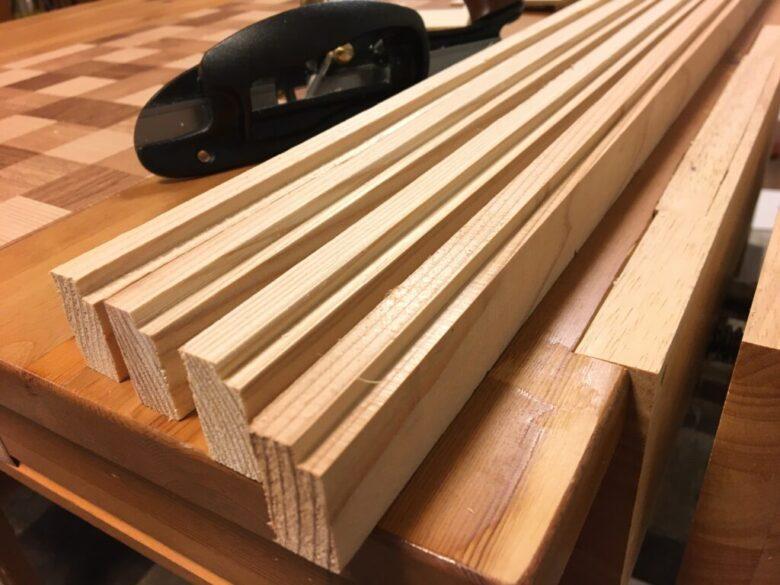 木材の角を削れば段欠きにもなる