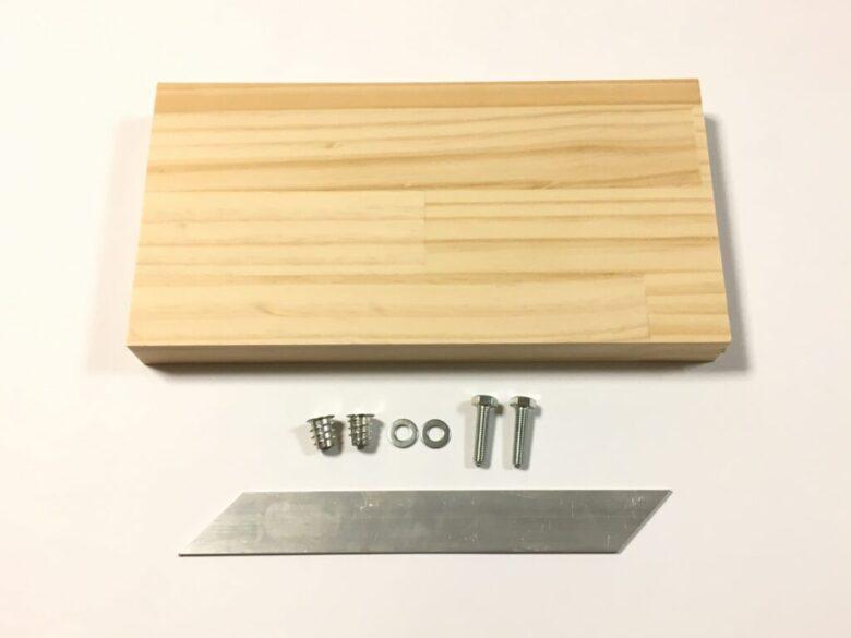 ノコギリ用留め切りガイドの材料